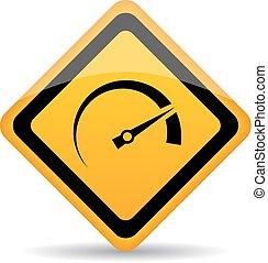 Geschwindigkeitsmesser-Vektorzeichen.