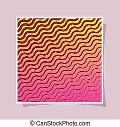 gestreifter rahmen, hintergrund, vektor, steigung, design, rosa, gelber