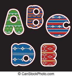Gestricktes Alphabet