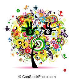 Gesunde Energie von Kräuterbaum für dein Design