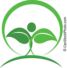 Gesunde Natur-Logovektor