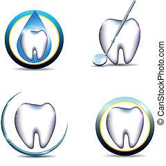 Gesunde Zahnsymbol