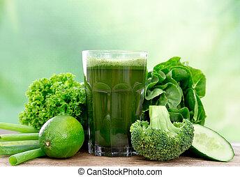 Gesunder grüner Saft