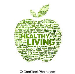 gesunder lebensunterhalt, apfel, abbildung