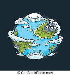 Gesunder Planet.