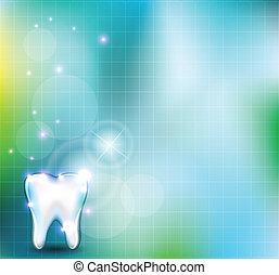 Gesunder Zahn Hintergrund.