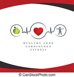 Gesundes Herzsymbol