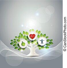 Gesundes lebendes Symbol