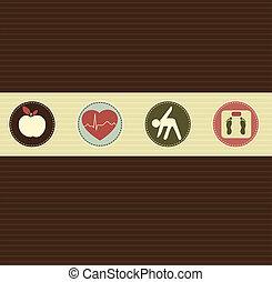 Gesundes Lebensstilsymbol
