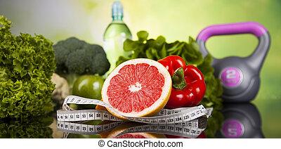 Gesundes Lifestyle-Konzept, Vitaminzusammensetzung.
