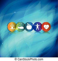 Gesundes Lifestyle Symbol Hintergrund