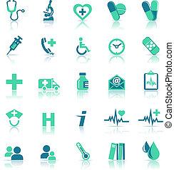 gesundheit, medizinische behandlung, grün, heiligenbilder