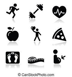 Gesundheit und Fitness schwarz sauber Icon.