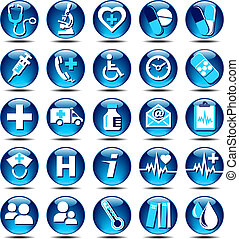Gesundheits-Icons gloss