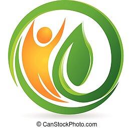 Gesundheits- Natur-Mann-Vektor-Logo.