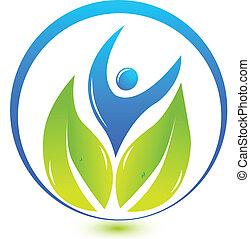 Gesundheits-Natur Menschen Logo.