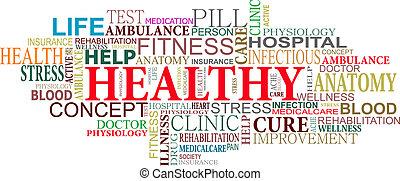 Gesundheits- und Pflegeschilder