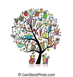 Getränkesammlung, Kunstbaum für Ihr Design