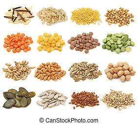 Getreide, Getreide und Samensammlung