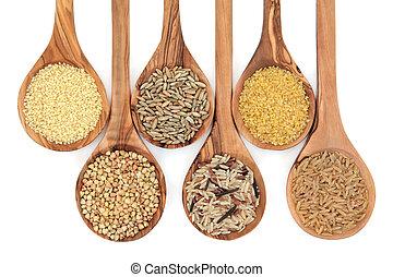 Getreide und Getreide.