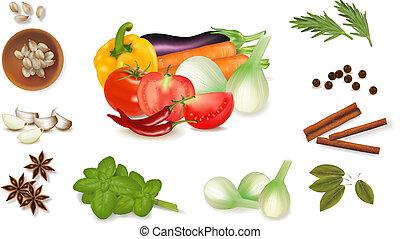 Gewürze und Gemüse
