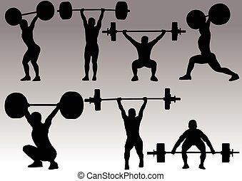 Gewichtheben Silhouette.
