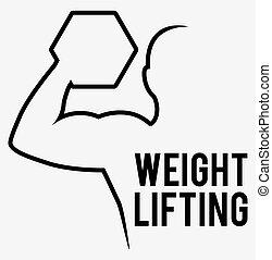 Gewichtheben.