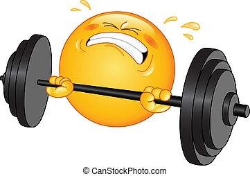 Gewichtheber-Emoticon