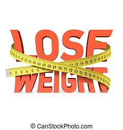 Gewichtsverlust, Maßband.
