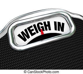Gewichtsverlustdiät in Worten
