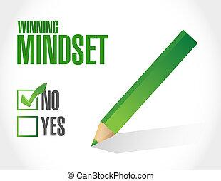 gewinnen, begriff, zeichen, negativ, mindset