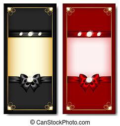 Gierkarten schwarz und rot
