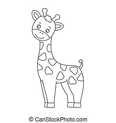 Giraffe für Farbbuch.