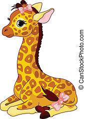 Giraffe Kalb mit Bogen