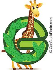 Giraffe mit Alphabet G