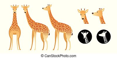 Giraffe-Vektor eingestellt.