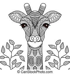 Giraffenfarbenseiten.