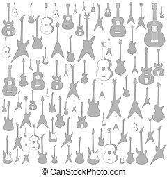 Gitarre ein Hintergrund