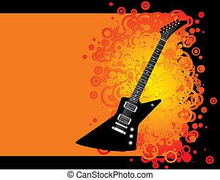gitarre, grunge, hintergrund