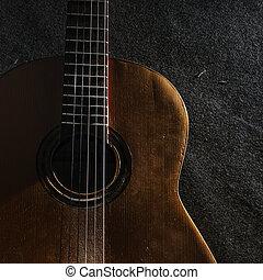 gitarre, leben, noch