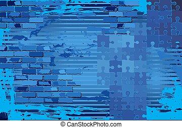 glänzend, hintergrund, blaues, grunge