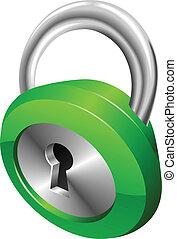 Glänzende, grüne Sicherheitspolstervektor-Illustration