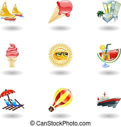 Glänzende Sommer-Ikonen