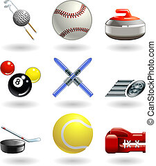 Glänzende Sport-Ikonen-Serie