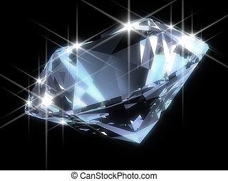 Glänzender Diamant.