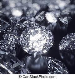 Glänzender Diamantenhintergrund