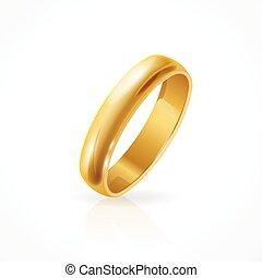 Glänzender goldener Ring. Vector