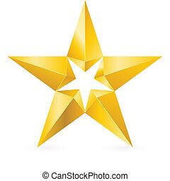 Glänzender Goldstern