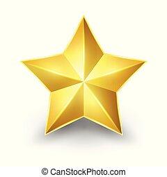 Glänzender Goldstern.