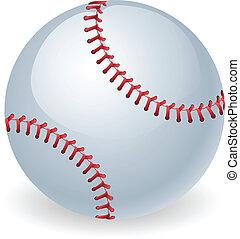 Glänzendes Baseballballspiel.